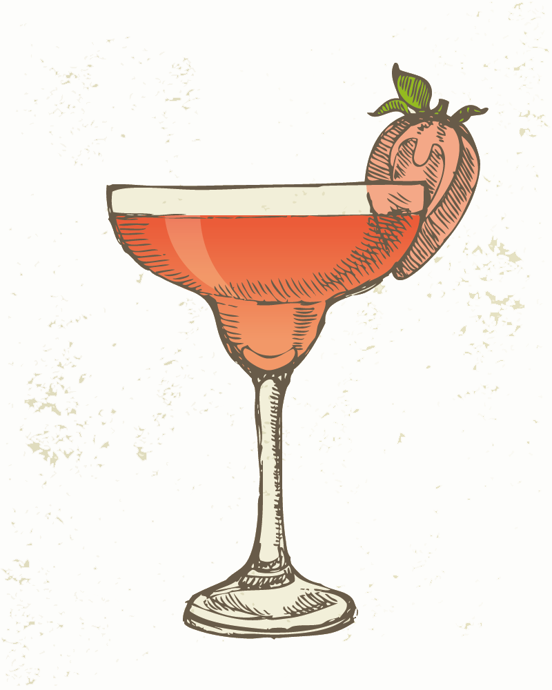 Margarita transparent hand holding. Cocktail iced tea drawing