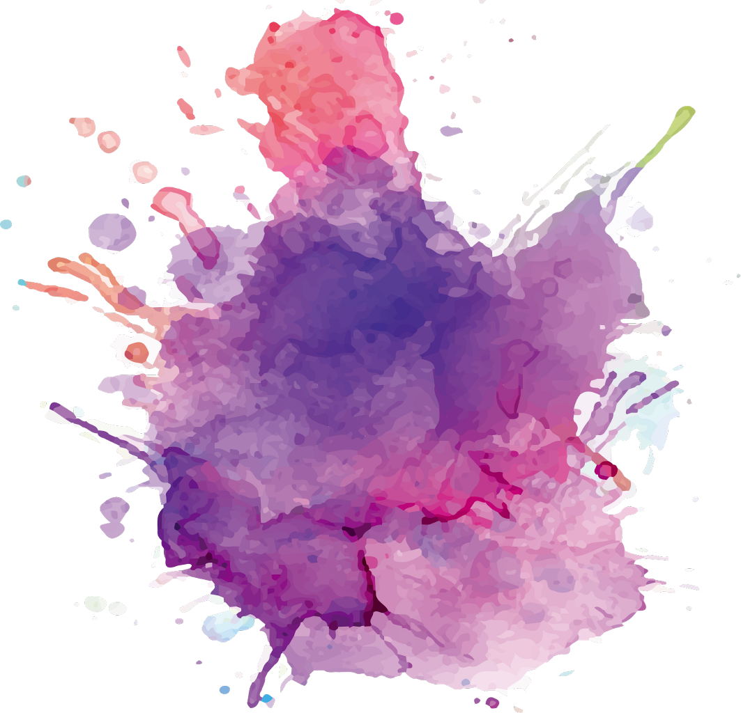 Purple paint splatter png. Ftestickers watercolor