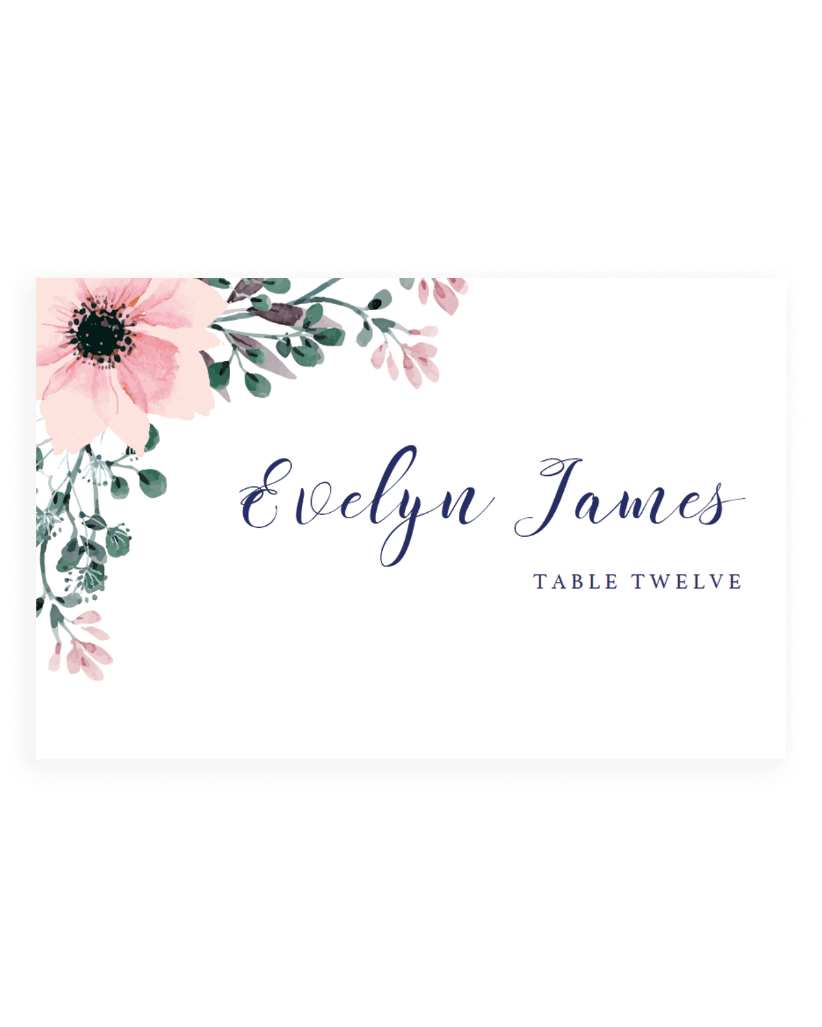Watercolor wedding png. Invitation flower place cards
