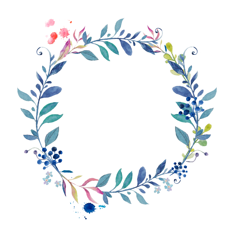 Watercolor wreath flower png. Peoplepng com