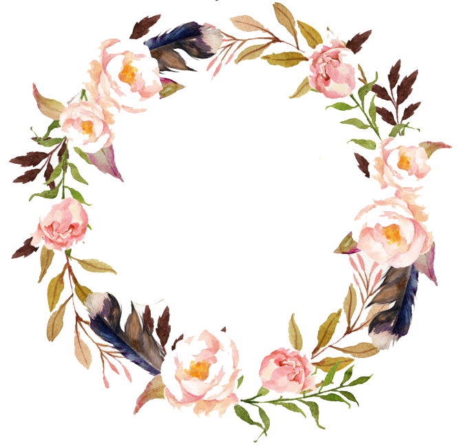 Free with flowers vector. Watercolor wreath flower png svg freeuse
