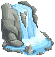 Waterfall clipart easy. Png clip art out