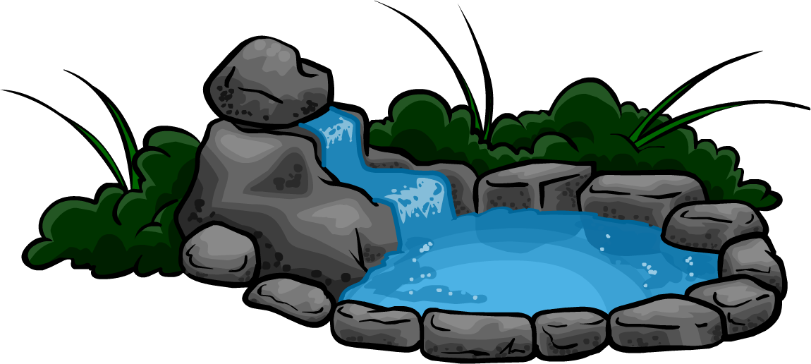 Waterfall clipart png. Image pond club penguin
