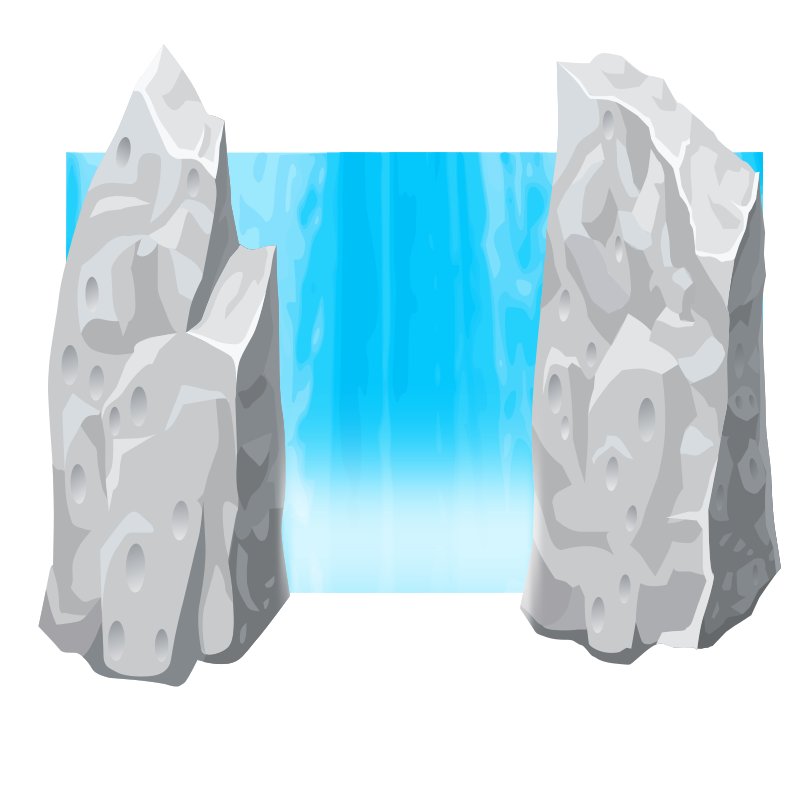 Waterfall clipart png. Remix medium image
