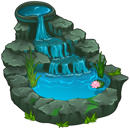 Waterfall png clip art. Zoo clipart landscape jpg library download