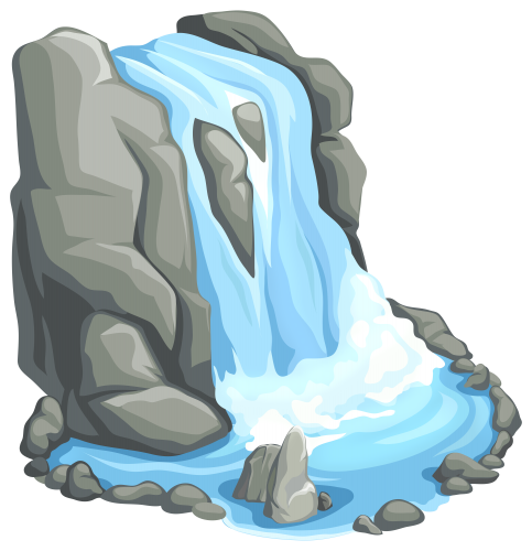 Waterfalls drawing colour pencil. Waterfall png clip art