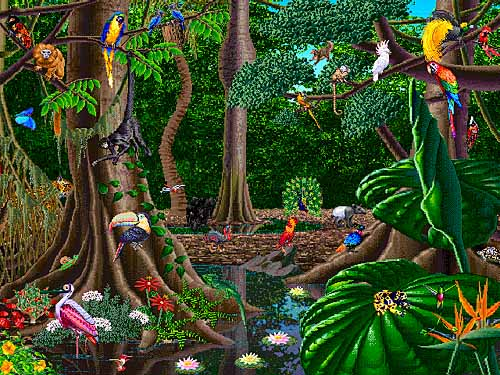 Waterfall clipart rainforest ecosystem. Tropical drawing at getdrawings