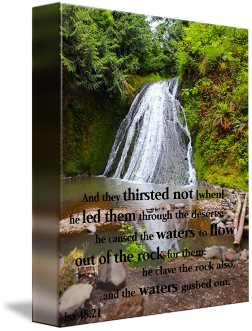 Waterfalls drawing nature. Waterfall landscape scripture by