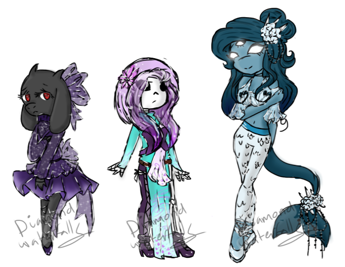 Waterfalls drawing undertale. Monster girls closed by