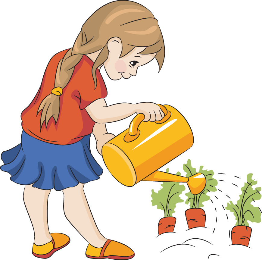 watering clipart school