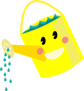 Watering clipart. Smiling can clip art