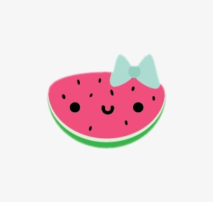 Watermelon clipart smiling watermelon. Hand painted watercolor lovely