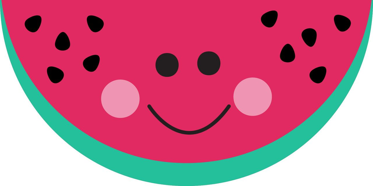 watermelon clipart smiling watermelon