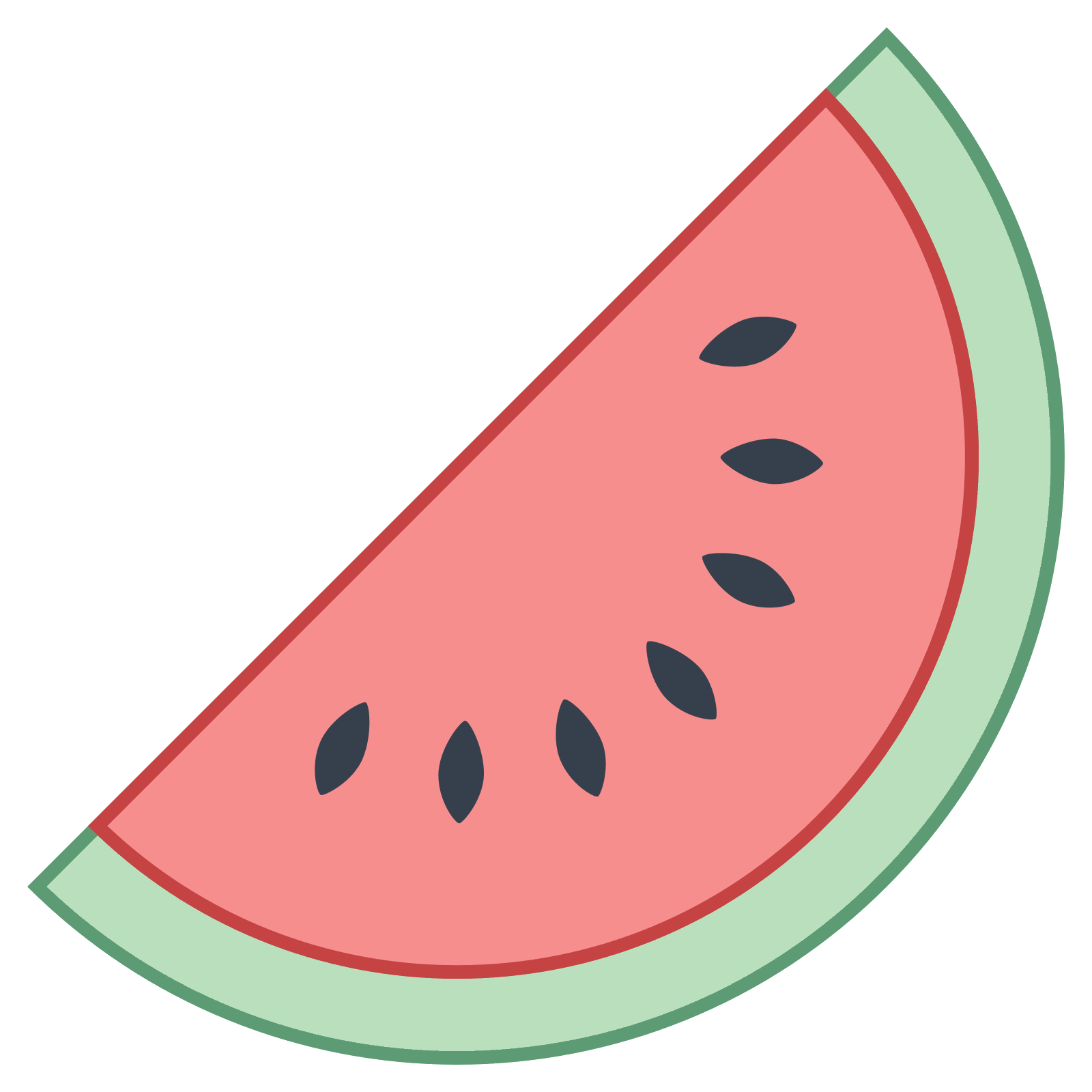 Watermelon seeds png. Icon there is half