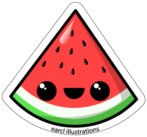 Watermelon png cartoon. Collection of clipart