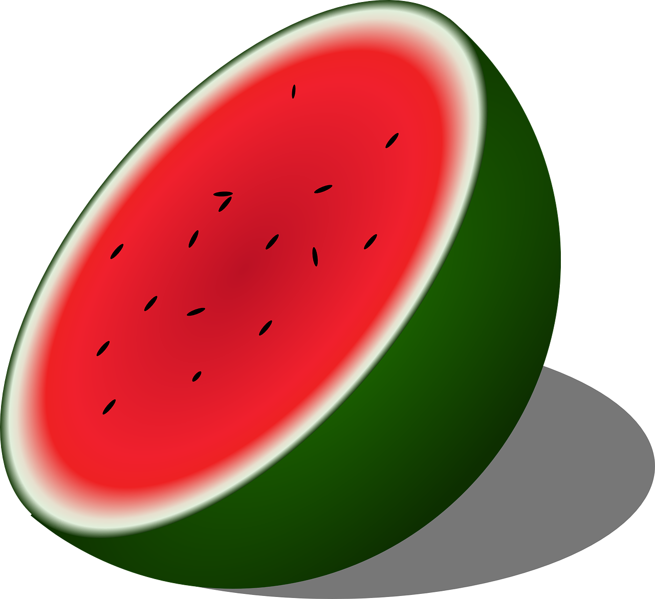 Watermelon stripes png. Melon half seeded fruit