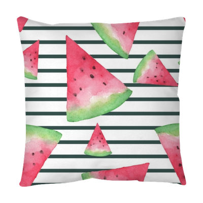 Watermelon stripes png. Seamless background with slices