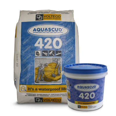 Waterproofing floor png. Aquascud system two component