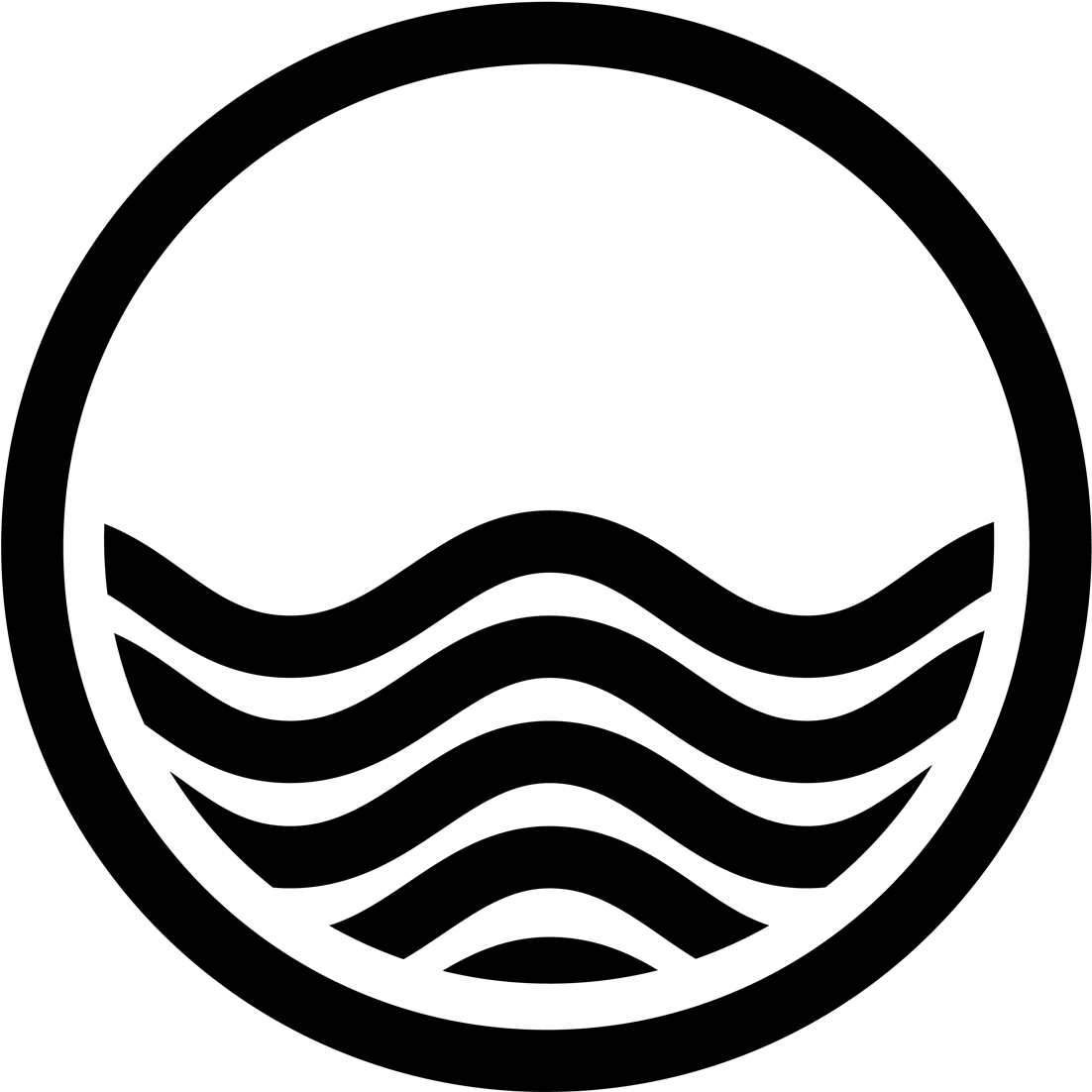 Wave clip black and white. Water waves art free