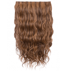 Wave clip extension. Toffee brown color in