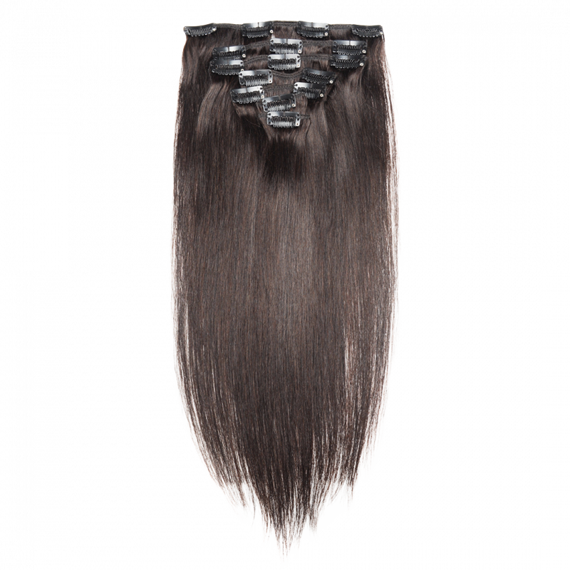 Wave clip hair. Straight extensions aer soft