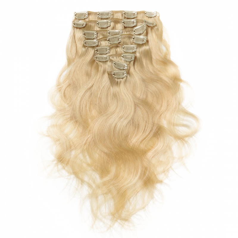 Wave clip hair. Curly extensions terra ins