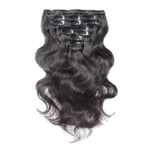 Extension clip wave. In hair extensions minky