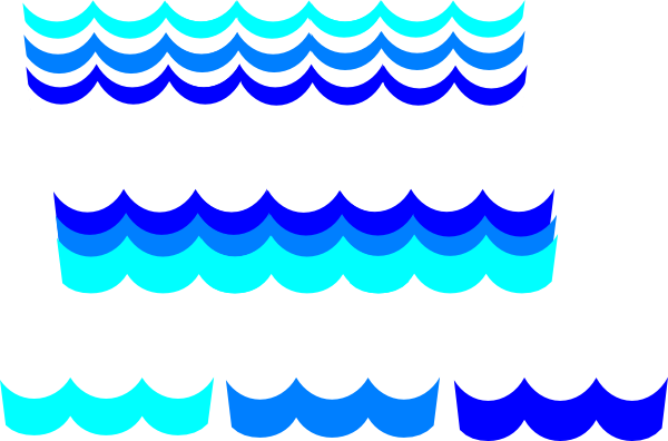 Wave clip small. Waves clipart frames illustrations