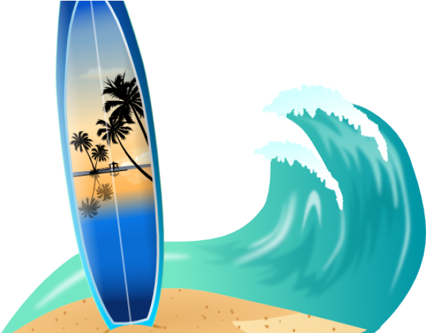 Wave clip surf. Download hd drawn surfboard