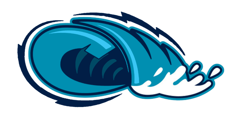 Wave clip title. Cartoon images of tidal