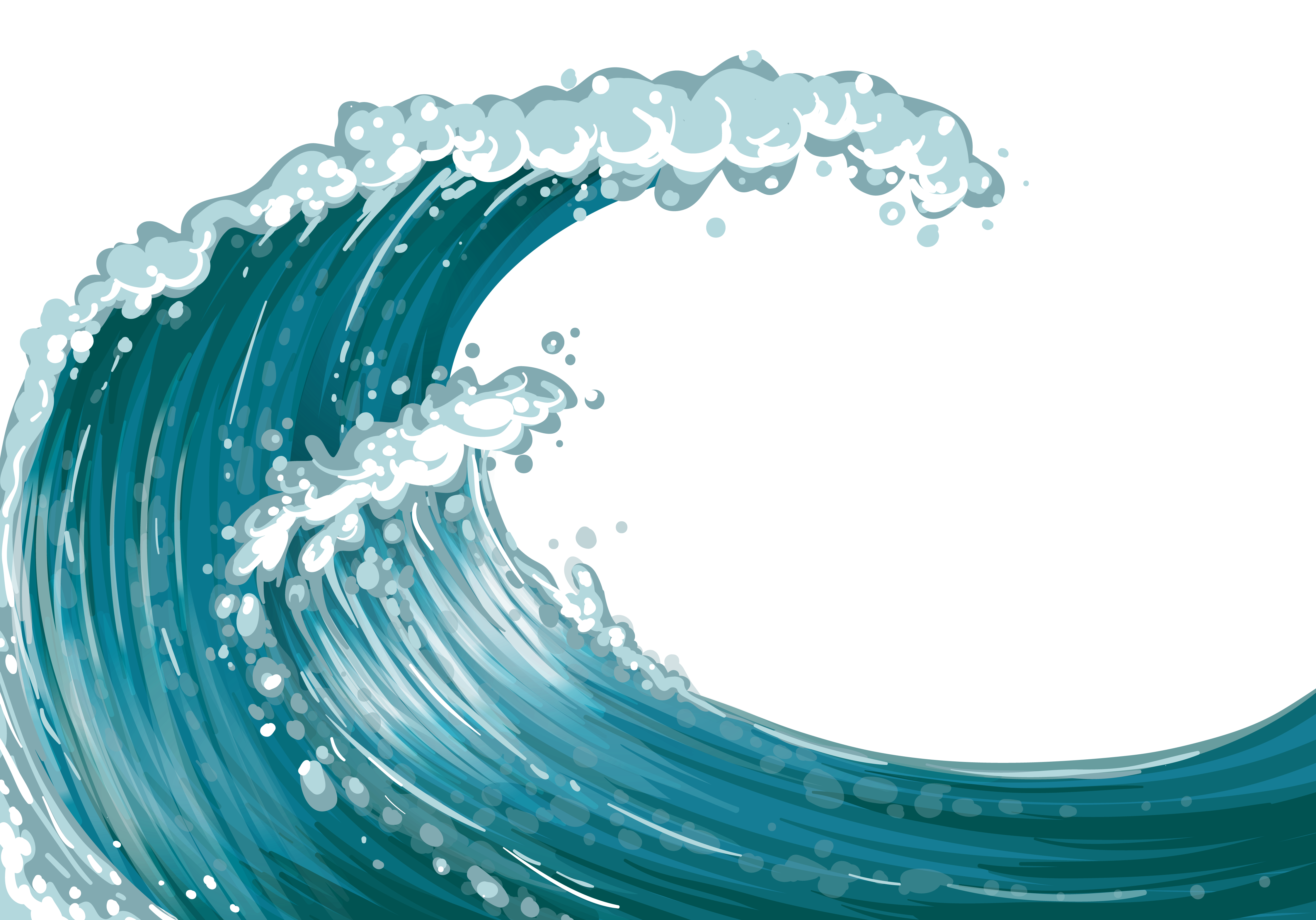 Wave clipart curling wave. Free picture black