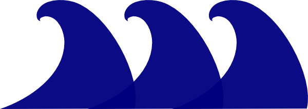Wave clipart blue wave. Clip art at library