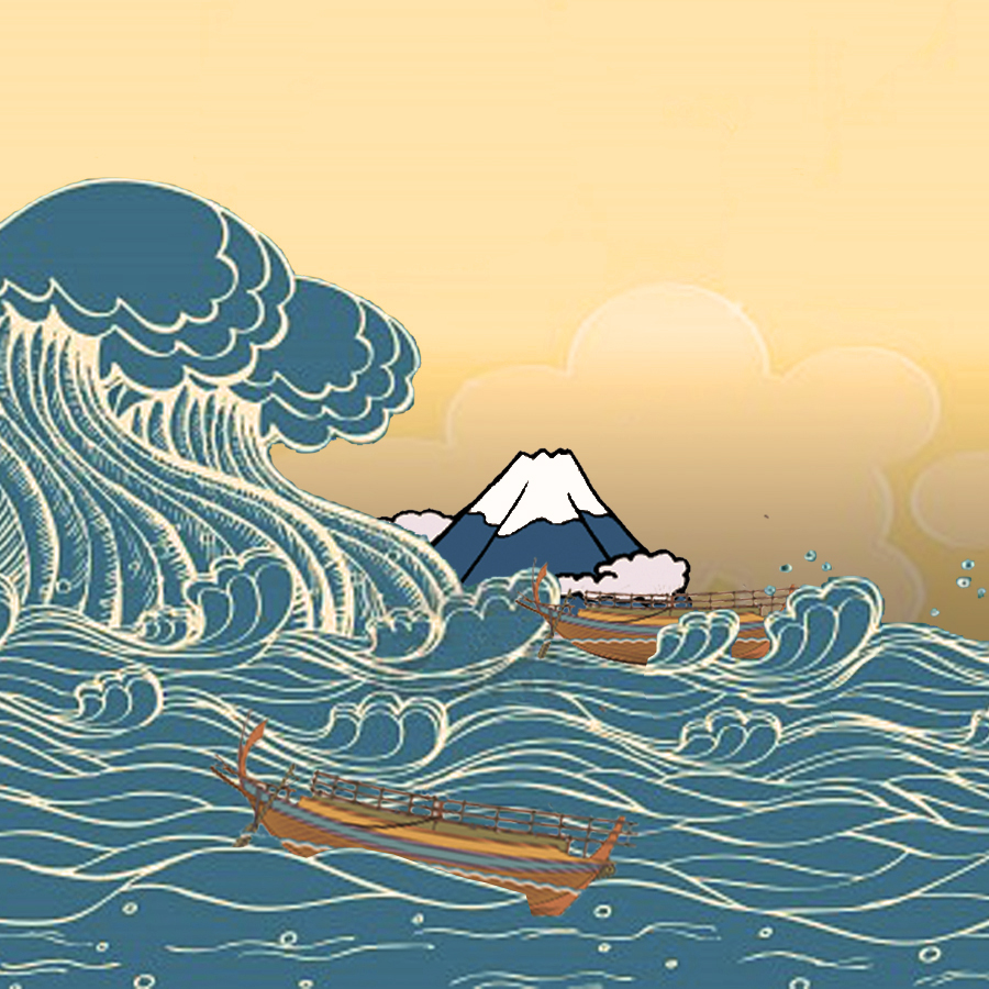 Wave clipart great wave. Clip art the off