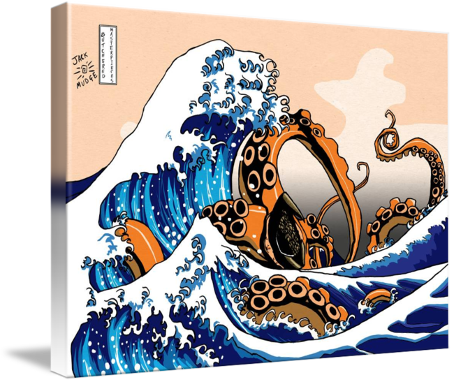 Drawing off kanagawa. The great wave with