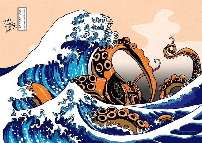 Wave clipart great wave. The off kanagawa with