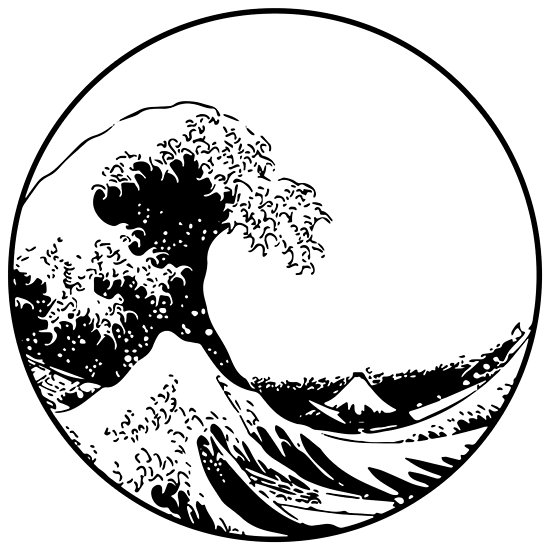 Wave clipart great wave. The off kanagawa posters