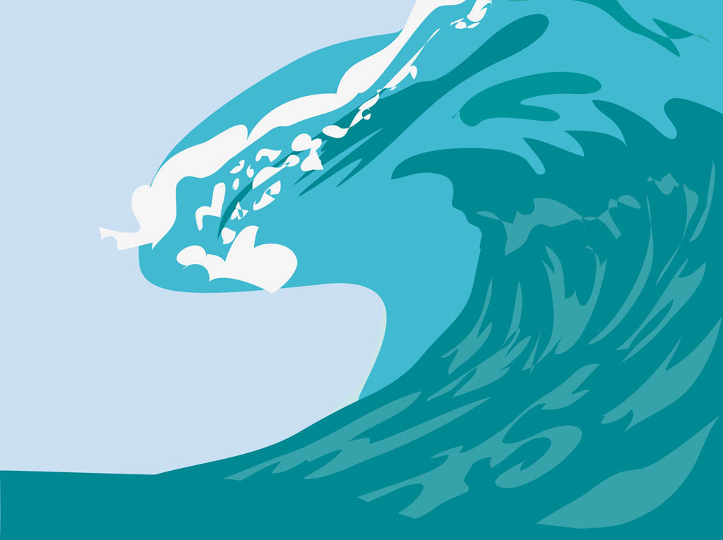 Waves clipart giant wave. Clipground big