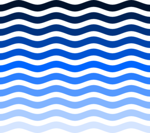 Wave clip water. Simple waves art at