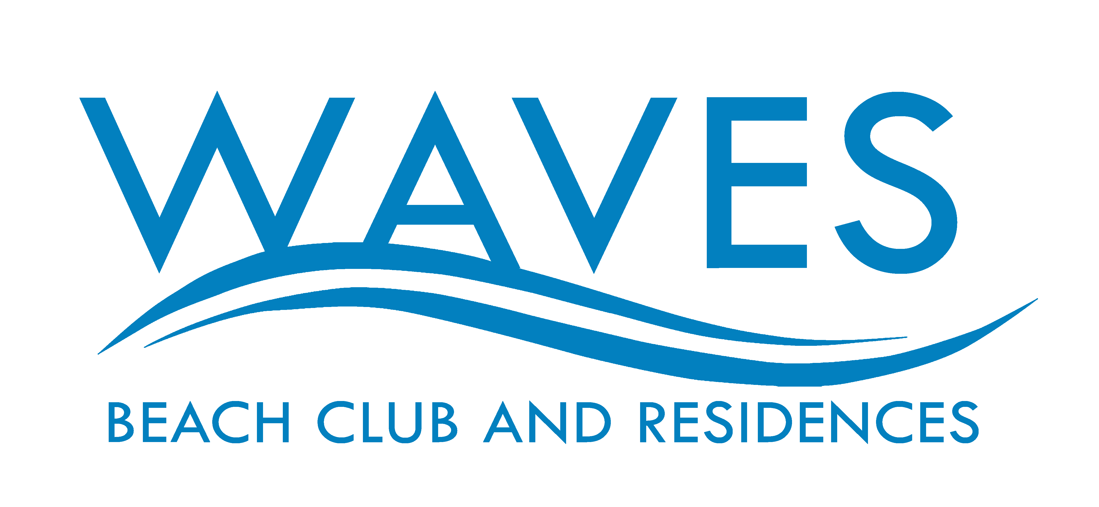 Waves logo png. Beach club and residences