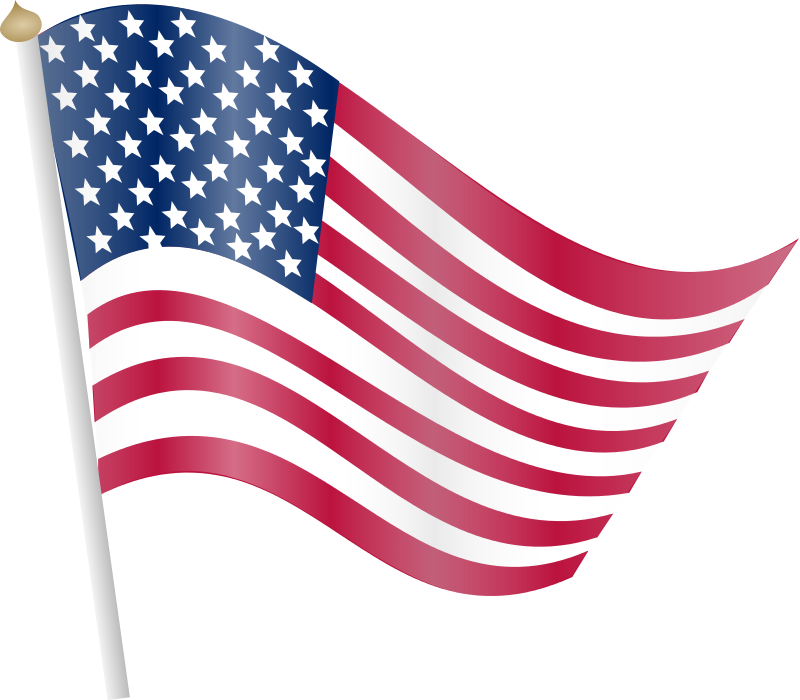 Flagpole clip diy. American flag clipart at
