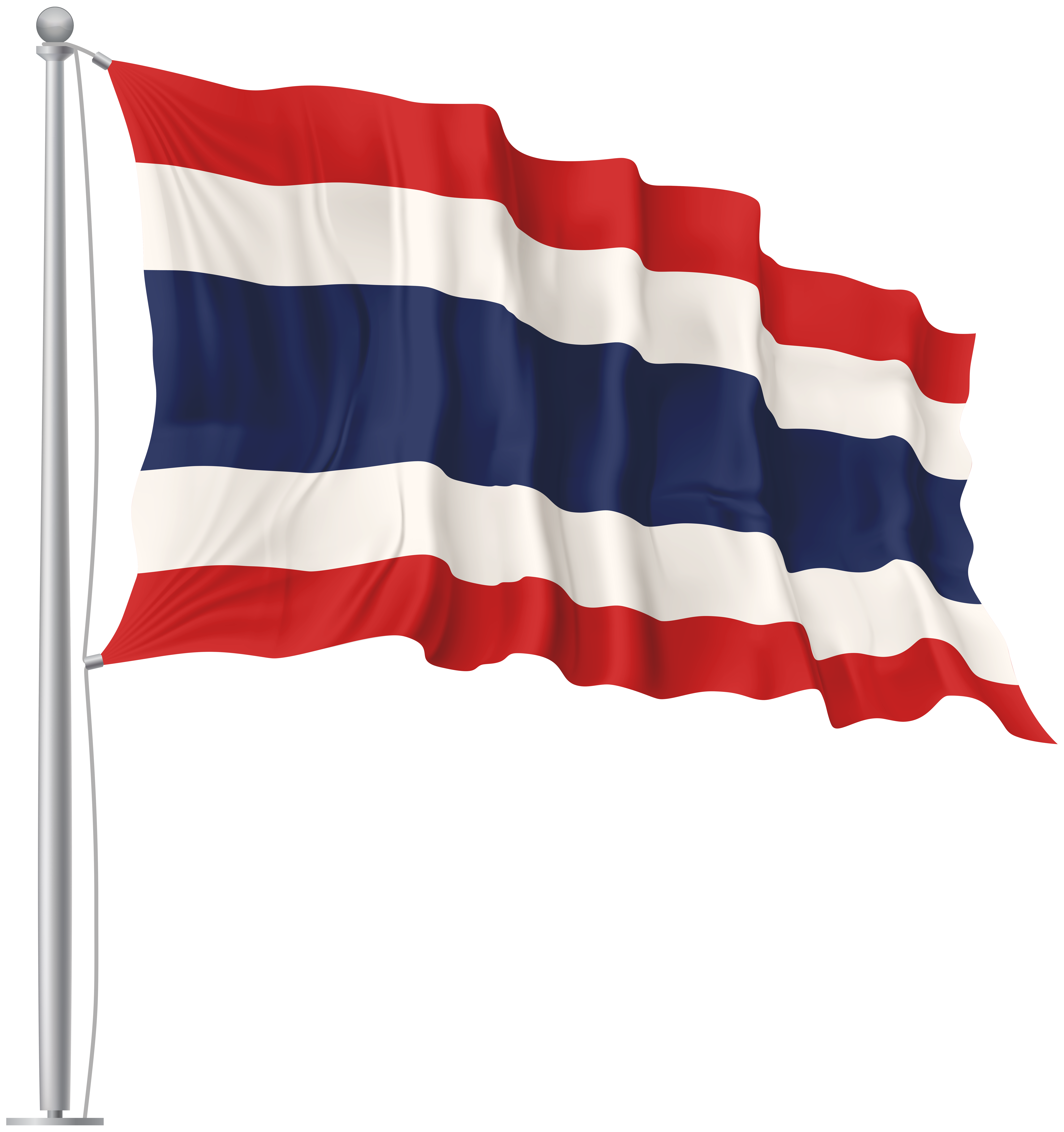Thailand waving flag image. Flags png banner library