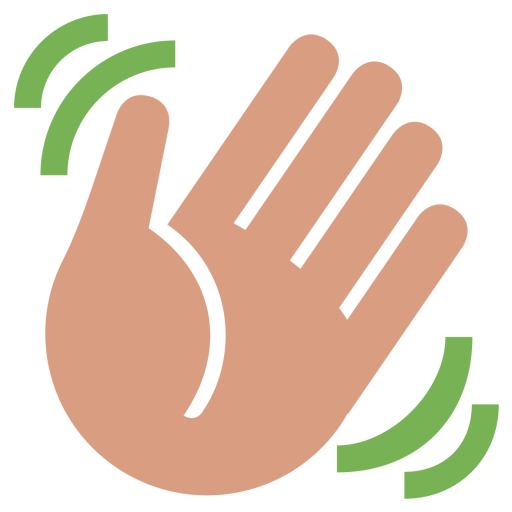 Waving hand png. Medium skin tone wave