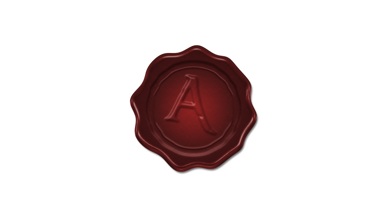 Wax seal png. A by imrahilxbattousai on