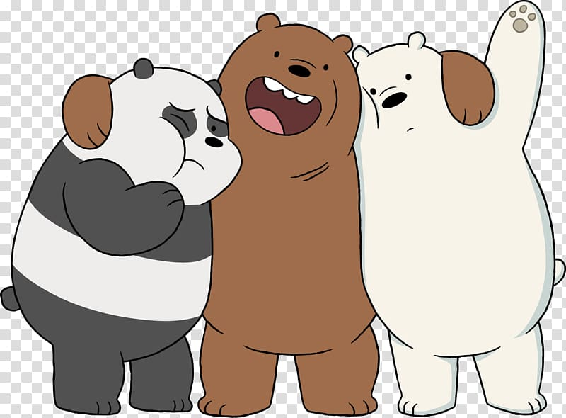 We Bare Bears. Illustration the baby giant