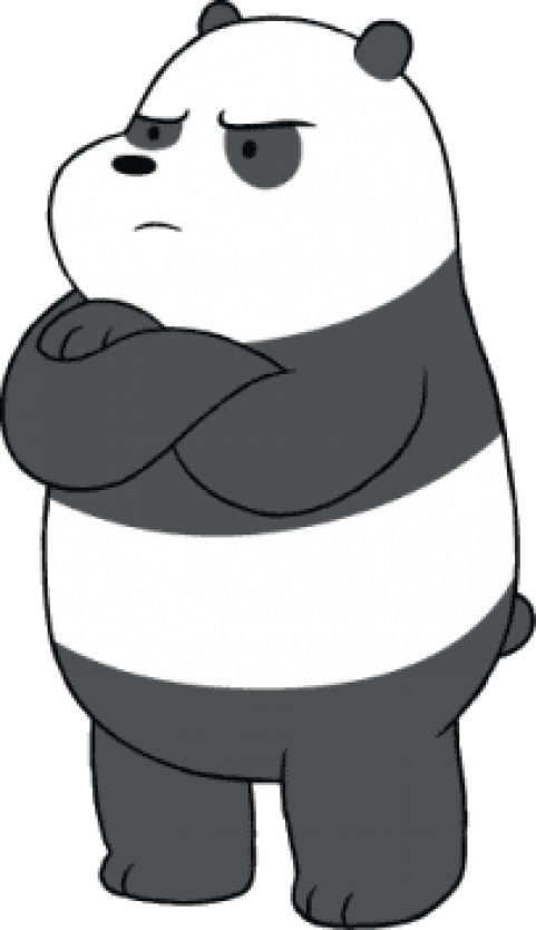 We bare bears panda png. Download angry clipart photo