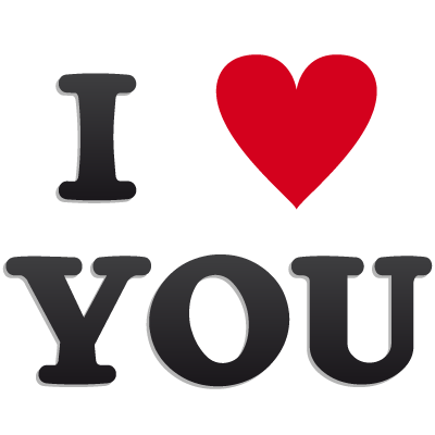 I love you png. Words download