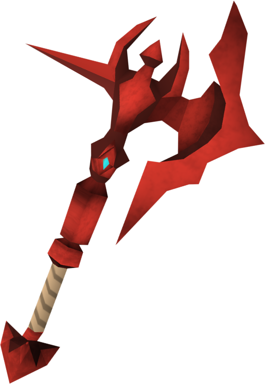 Weapon clip dragon. Image throwing axe detail