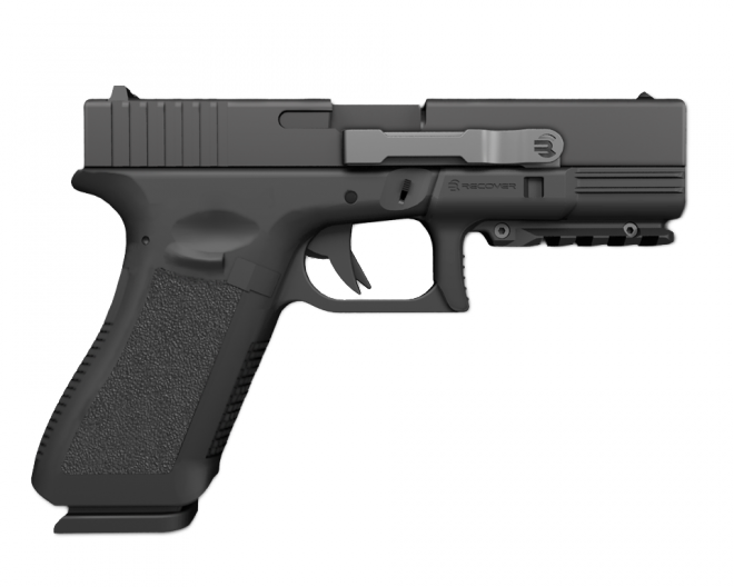 Weapon clip glock 17. Recover s rail solution