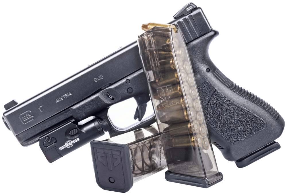 Weapon clip glock 17. Ets group translucent mag