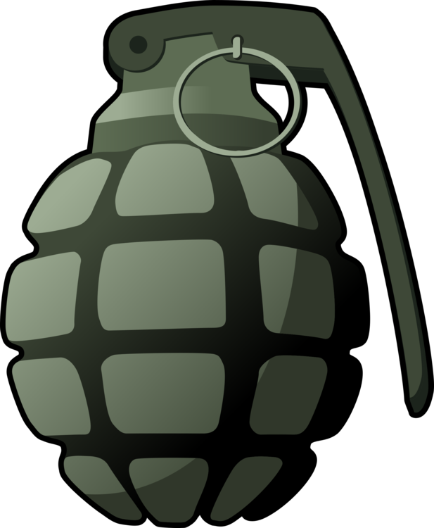 Weapon clip hand. Grenade bomb computer icons